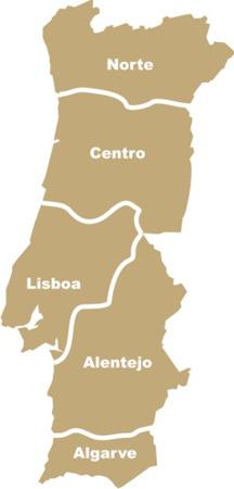 mapa de portugal regiões Mapa de Portugal   Regiões   Campos mapa de portugal regiões